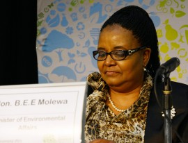 Minister of Environmental Affairs, Edna Molewa